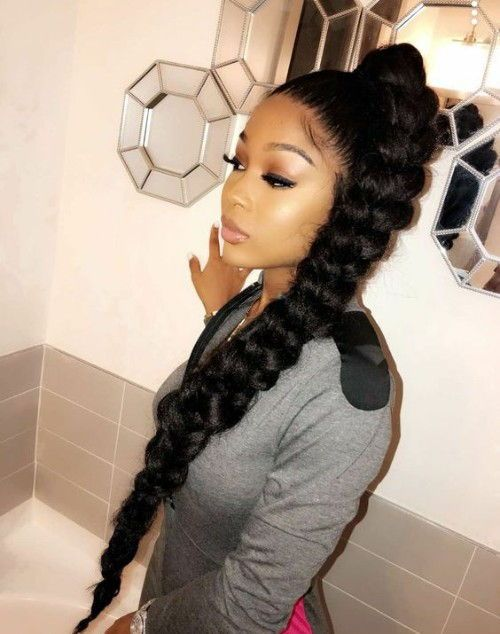Gorgeous High Ponytail Hairstyles For Black Women High Ponytail