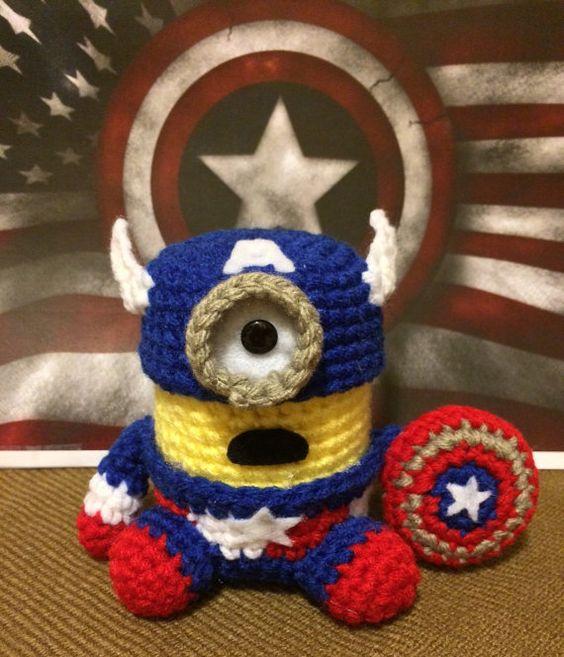 Amigurumi Patrones Pdf : Captain america minion pdf pattern crochet for amigurumi