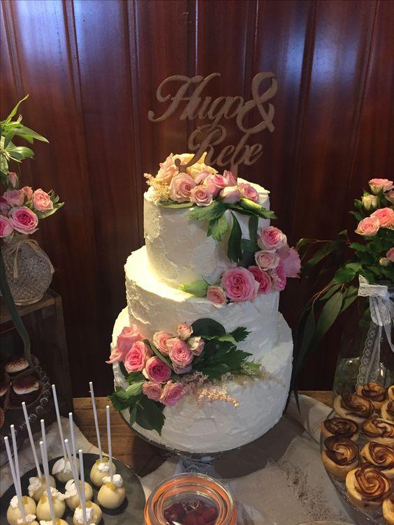 Cake topper personalizado, realizado para decoración de tarta nupcial