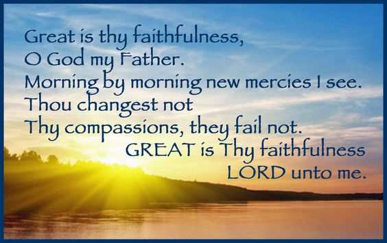 His mercy is new every morning. :)