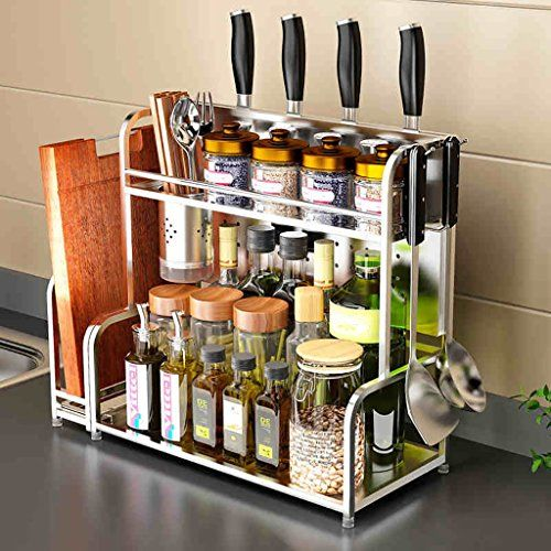 Kitchen Shelf Multipurpose Spice Racks Stainless Steel Kitchen