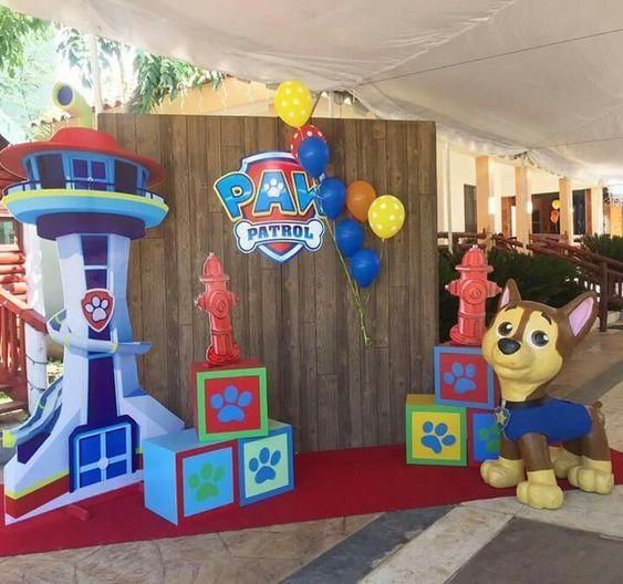 Backdrops Para Fiestas De Paw Patrol Para Niño Ideas Para