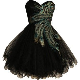 metallic peacock dress