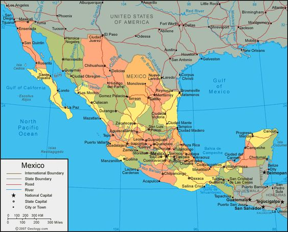 Incase you didnt know Mexicos official name is United Mexican – Map of States of Mexico