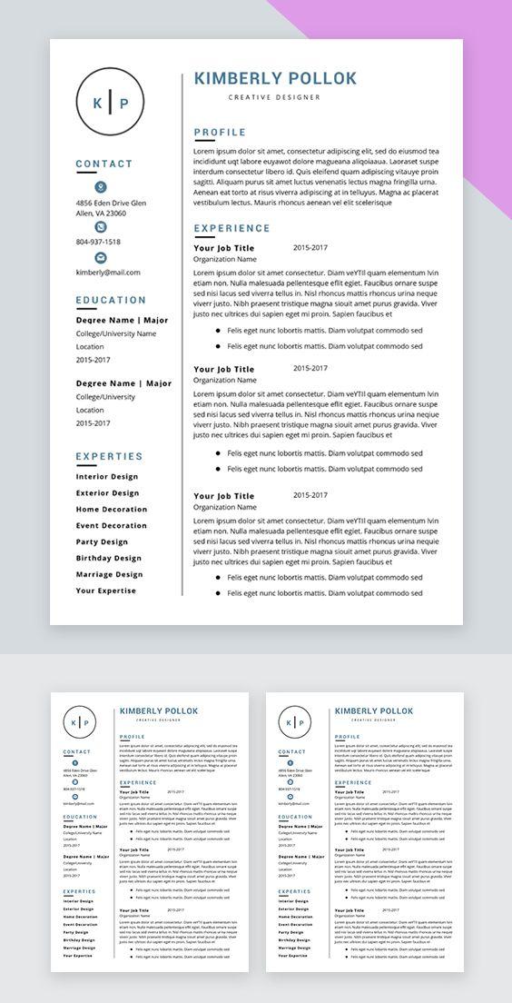 Resume Template Professional Resume Template Instant Etsy Resume Template Resume Template Word Teacher Resume Template