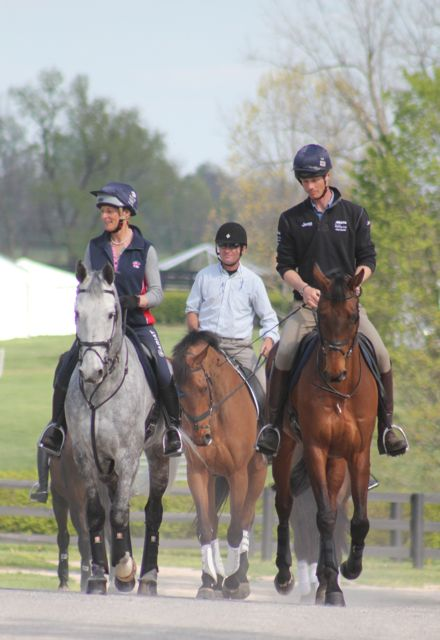 Awesome! Three past winners of the Rolex Kentucky CCI**** Mary King (on Fernhill Urco) Phillip Dutton (on Fernhill Eagle) and William Fox-Pitt on Seacookie #eventing #equestrian