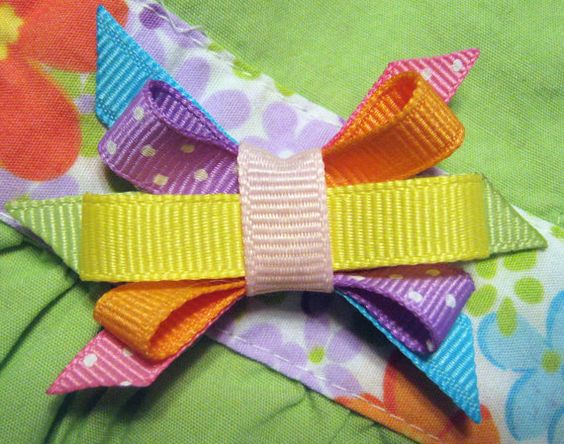 M2M Gymboree Butterfly Blossom Itty Bitty Bow by BabyABows on Etsy, $2.50