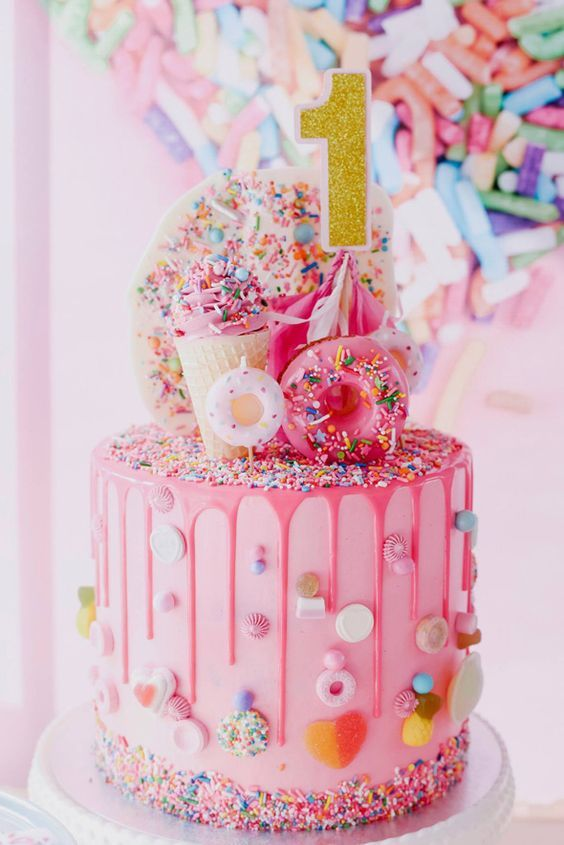 17 Adorable 1st Birthday Cake Ideas Sprinkles Birthday Party