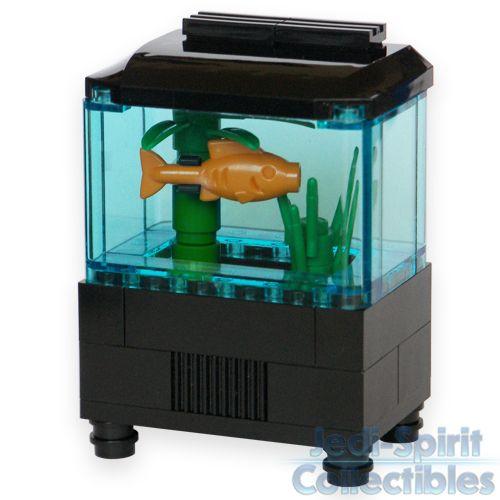 lego custom creation aquarium set with fish plants
