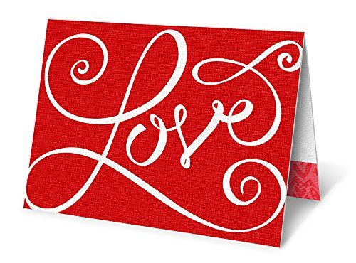 Giant Valentines Card Scarlet Love 85x11 Sized Custom Card – Giant Valentines Card