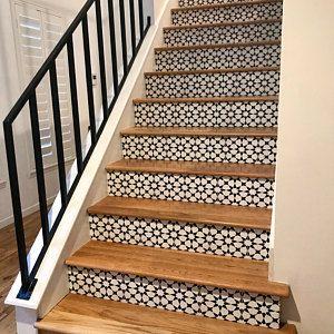 Tile Decals Tiles For Kitchen Bathroom Back Splash Floor Etsy Vinyl Wallpaper Tile Decals Tile Stairs