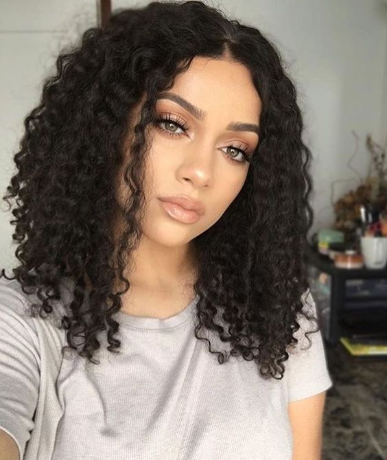 17 Best Hairstyles For Shoulder Length Curly Hair Shoulder Length Curly Hair Front Hair Styles Hair Styles