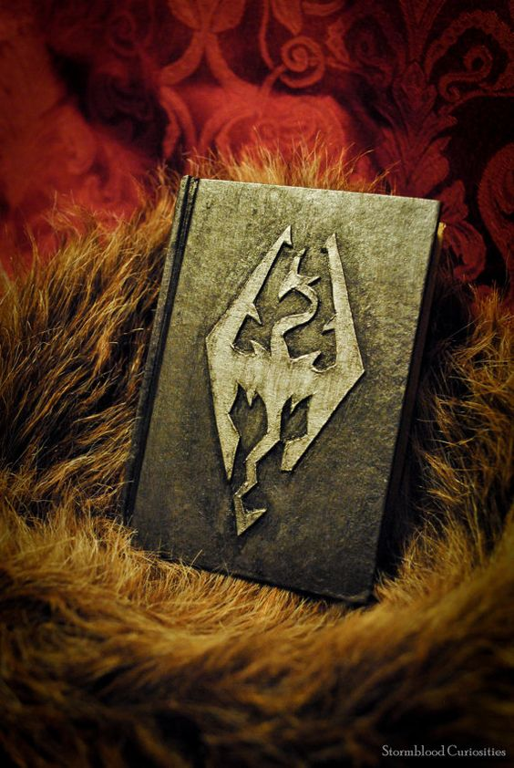 Book Covers Skyrim : Skyrim dragon mini notebook with dragonborn emblem epic
