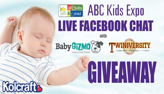 Kolcraft LIVE Chat at ABC Kids Expo Giveaway