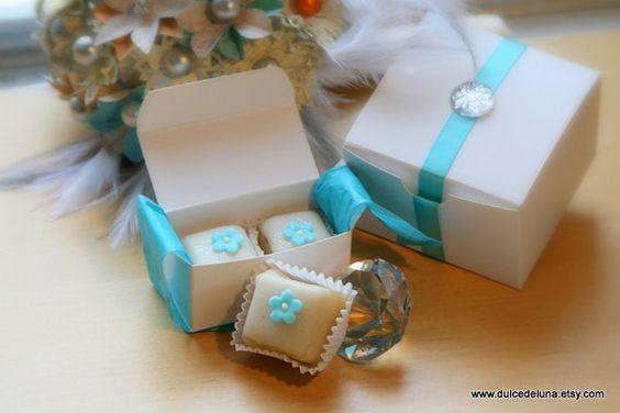 Petit Four Favor Boxes Set of 20 by DulceDeLuna on Etsy, $140.00