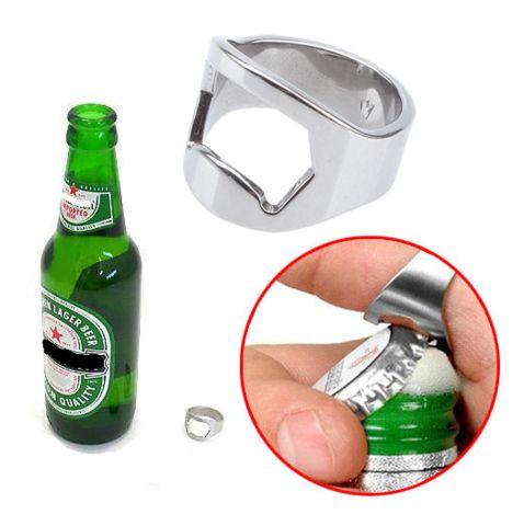 Beer opener ring trendy jewelry