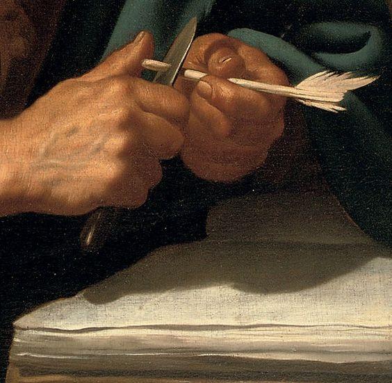 Jan van Bijlert, Detail – Saint Luke the Evangelist, Oil on Canvas, 93.6 x 77.4 cm, Christie's Amsterdam, 13 abril 2010, lot 103: