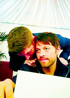 what is he whispering?! XD