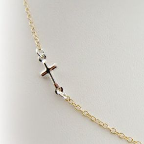 Side Cross Necklace From Cai