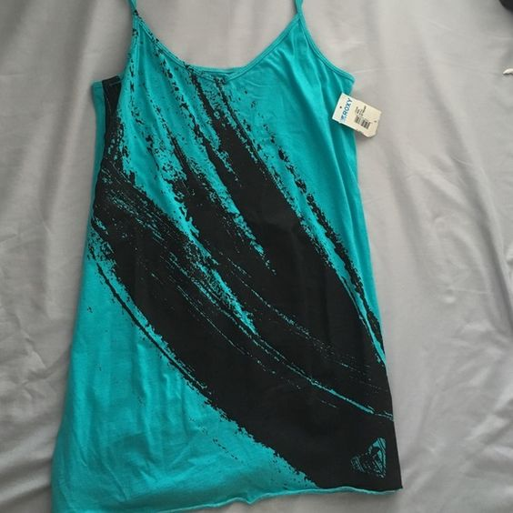 Rocky tank top Blue and black Roxy Tops