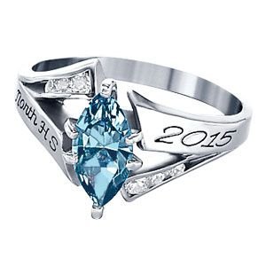 67% Off Personalized Women's Class Ring at Limogés Jewelry ... |Womens High School Class Rings