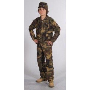 Deguisement militaire enfant uniforme armée soldat imprimé camouflage qualité deluxe.