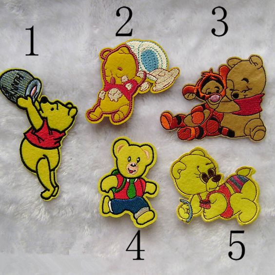 New to craftapplique on Etsy: cute bear Embroidery Non-woven patch lovely yellow Cubs funny Embroidered patch iron on patch sew on patch A158 (1.90 USD)
