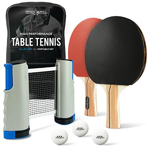All In One Ping Pong Paddle Set In 2020 Table Tennis Table Tennis Net Table Tennis Set