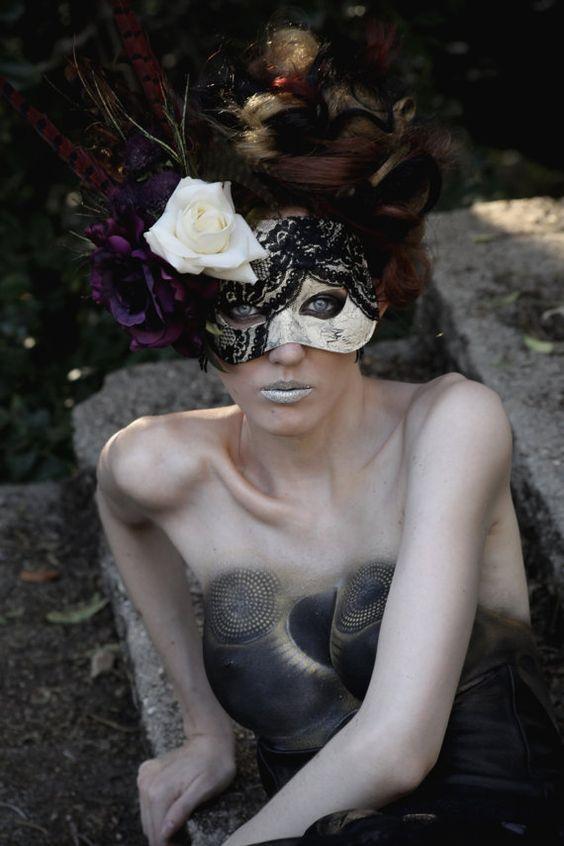 Handmade Masquerade Mask V by TwoTwentyTwoClothing on Etsy,