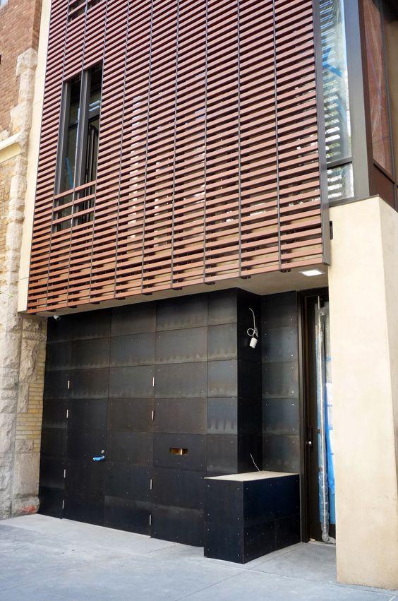 blackened steel fa ade caliper studio cr elevator. Black Bedroom Furniture Sets. Home Design Ideas