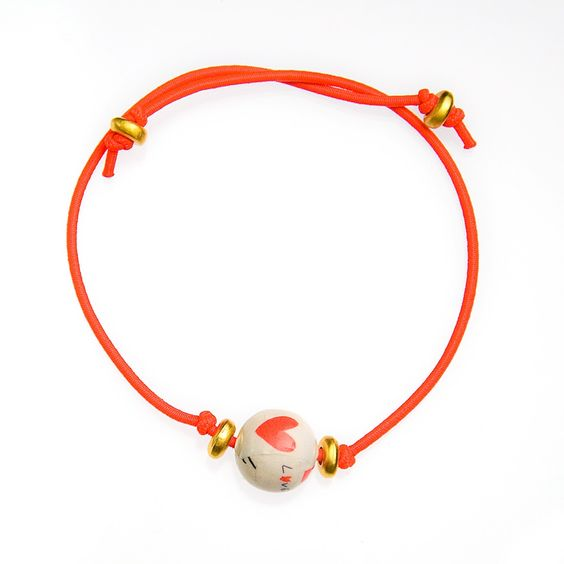 LOVE Armband neon-red