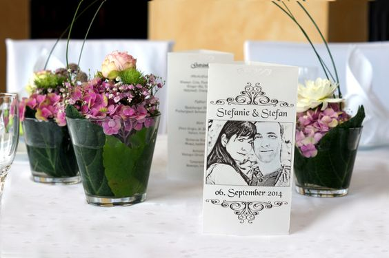 Hochzeitsdeko - Foto - Windlicht (dreieckig) bedruck mit deinem Foto sowie  Menuelkarte und Getränkekarte für Hochzeit, Taufr, Geburtstag - ein Designerstück von Fotogruesse bei DaWanda