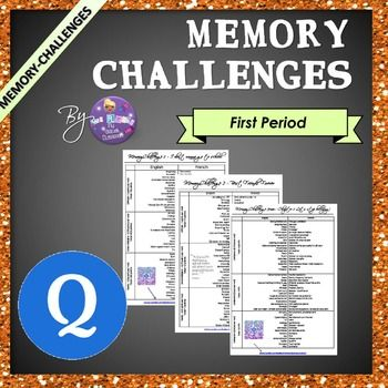 ESL Memory-Challenge 1st period