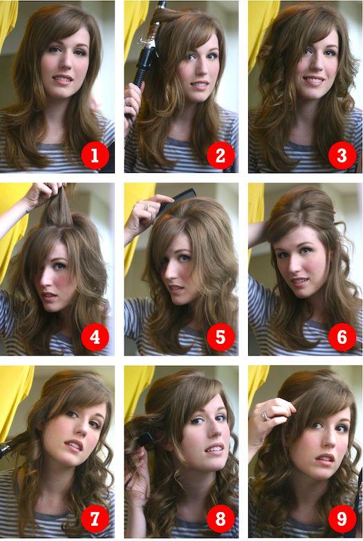 Zooey Deschanel Hair Tutorial
