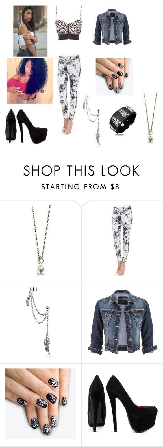 """""""Untitled #74"""" by rosie-angie ❤ liked on Polyvore featuring Antiquities Couture, 7 For All Mankind, Bling Jewelry, maurices, alfa.K and Shoe Republic LA"""