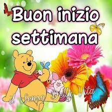winnie pooh# Buon inizio settimana# fiori# colori#: