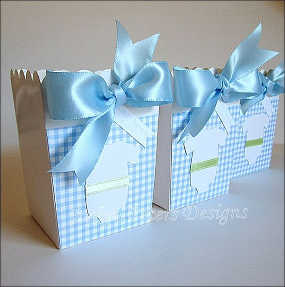 Baby Shower Favor Boxes Pinterest : Boy baby showers popcorn favors and babies on