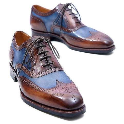 Mens leather lace up wingtip Brogues pointed toe business dress Formal Shoes SZ