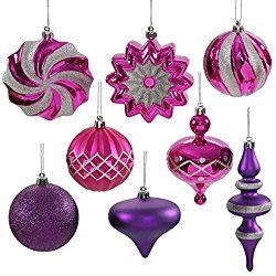 Mix your purple textures and colors to give your Christmas tree a multi dimentional look