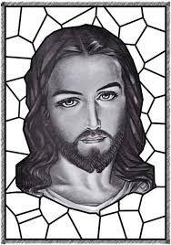 Resultado de imagem para mosaico jesus para colorir