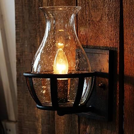 Lantern Sconce Indoor Google Search Wall Lights Glass Wall Lights Rustic Wall Sconces