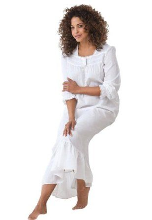 Dreams  Co Plus Size Cotton Prairie Gown Dreams & Co (White,2X) Dreams  Co. $17.49