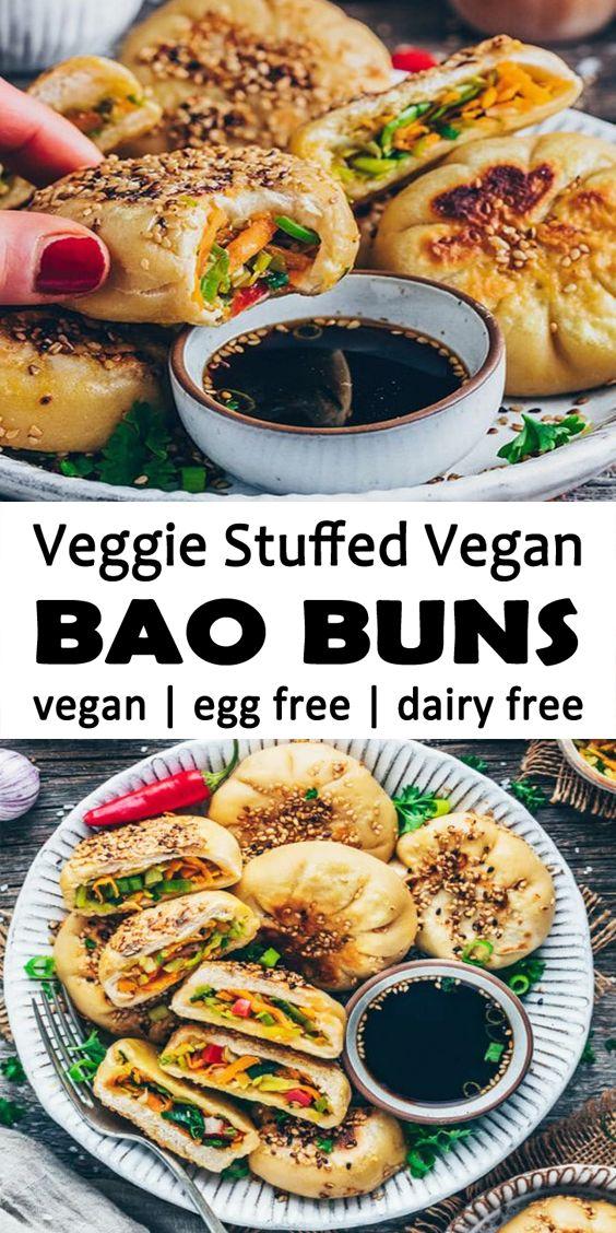 Pan Fried Bao Buns - Vegan Steamed Dumplings Recipes