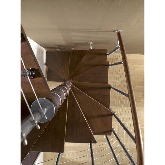 Escalier colima on carr cube line marches bois structure m tal chrom es - Escalier fait maison ...