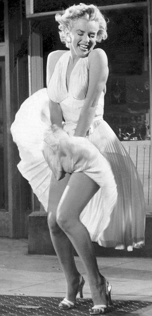 "The iconic Marilyn Monroe ""Seven Year Itch"" photo #MarilynMonroeSpasAtHyattRegencyMonterey"