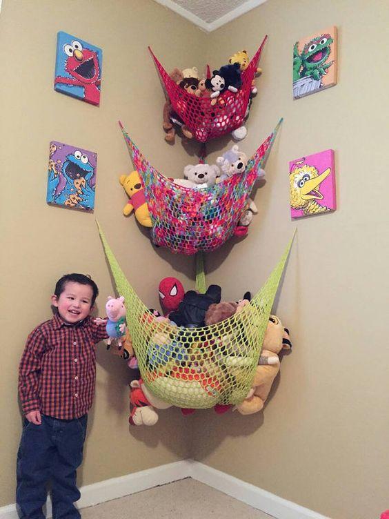 Check out this item in my Etsy shop https://www.etsy.com/listing/223143796/crochet-toy-storage-hammocks-set