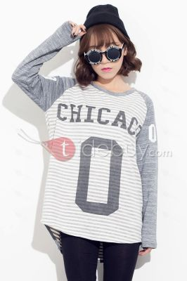 Letters Print Round Neck Loose Long Sleeve T-Shirt , view more photos: http://darim24.com/letters-print-round-neck-loose-long-sleeve-t-shirt-p405491