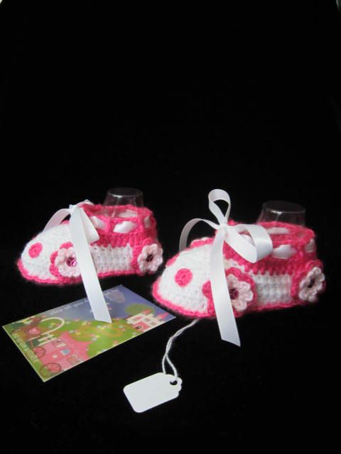 Baby Girl Car Booties Crochet Baby Girl Booties by MILAVIKIDS, $23.50
