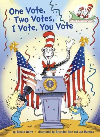 The Cat in the Hat looks at how we vote, why we vote, and who we vote for! In simple rhyme, the Cat in the Hat introduces early readers to the concept and practice of votingwith a focus on the America: