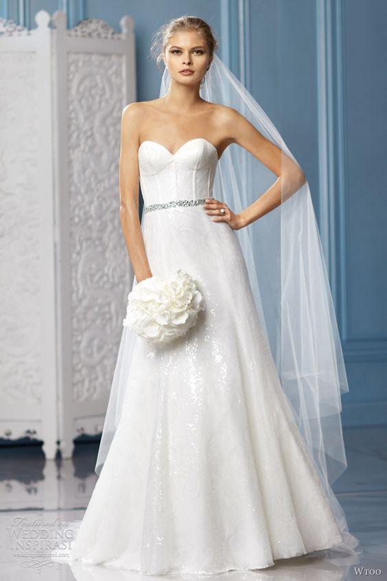 wtoo bridal 2013 charlize wedding dress strapless